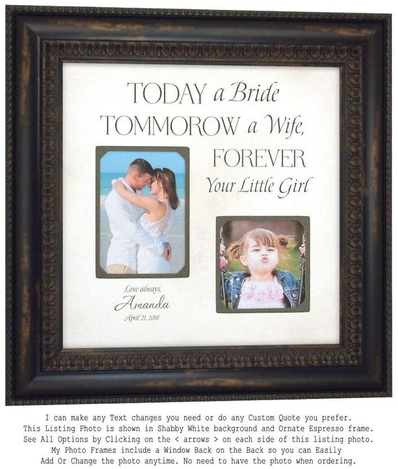 Wedding Gift for Dad, Personalized Photo Frame for Parents from ...