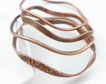 Copper bracelet, copper jewelry, bangle bracelet, bangles, copper bracelets, copper bangles, pure copper bracelet, copper anniversary, gift