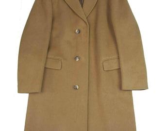 "1960s Vintage Maculette Camel Covert Coat 36""-38"" chest"