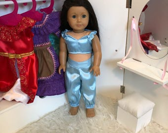 Jasmine Doll Outfit / 18 Inch Doll Jasmine Outfit / 14 inch Doll Outfit