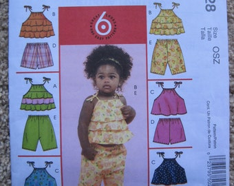 UNCUT Infants Tops, Shorts and Capri Pants - McCalls Pattern M5028