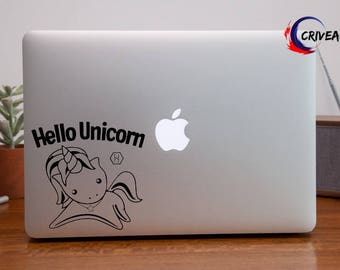 Altered Carbon Hello Unicorn Authentic Vinyl Sticker by Crivean