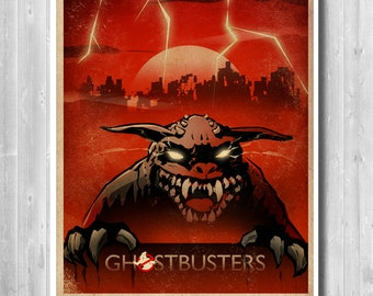Ghostbusters Zuul print, Ghostbusters Zuul Poster, Movie Art, Ghostbusters, Ghostbusters Retro, Art Prints, Minimalist Ghostbusters poster,