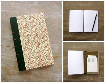 Blank Journal 1974 Vintage Readers Digest, Dark Orange and Green, Ready to Ship