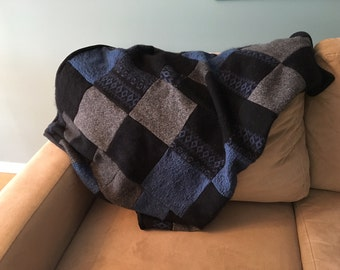 Recycled Wool Quilt - Night Sky