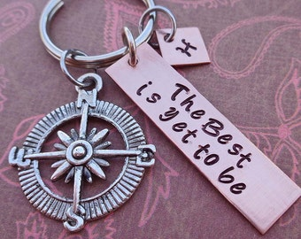 The Best is Yet to Be Personalized Graduation Keychain - School Student Grad High School College Gift - K69