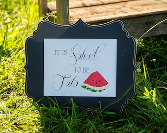 Watermelon Picnic Collection: Printable Sweet Sign