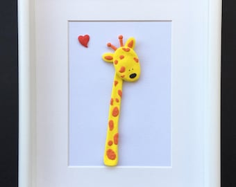 The little giraffe handmade clay art