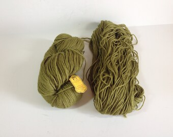 Destash Needlepoint Wool Yarn, Wool Tapestry Yarn, Olive Green Wool Yarn, Paterna Color #553, Paternya Virgin Wool 13 OZ