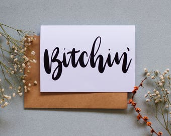 Bitchin' - Stranger Things Greeting Card - A6 - Eleven