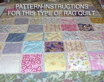 Ashlawnfarms Country Chenille Rag Quilt Pattern Instructions PDF