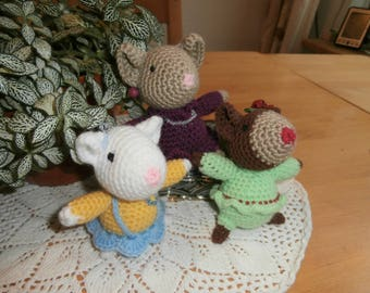 Crocheted mice - mouse - stuffed animals