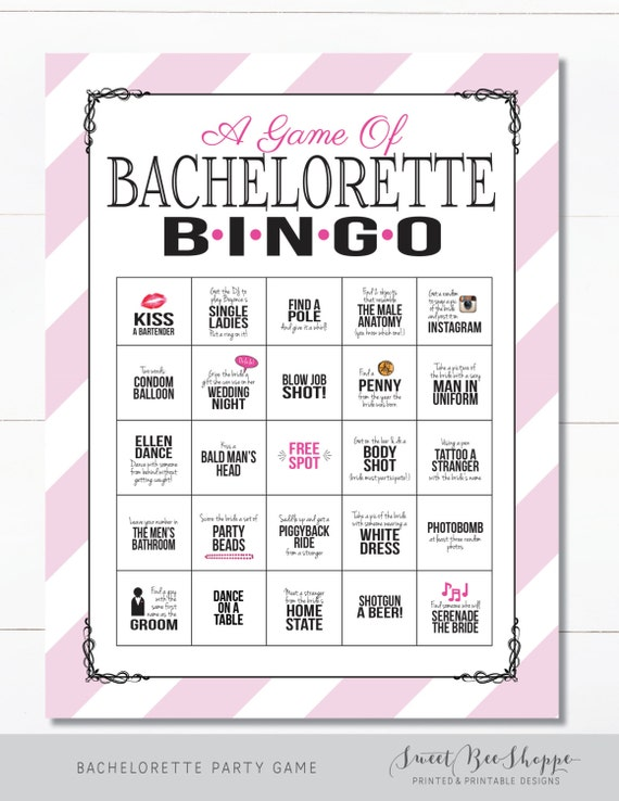 Crafty image for bachelorette party games printable
