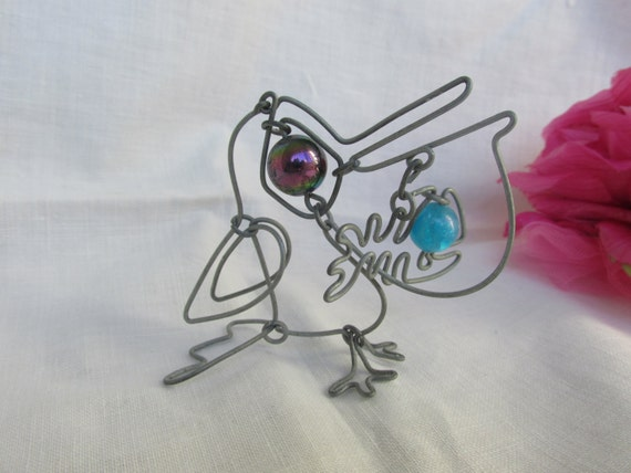 Pelican wire pelican wire sculpture hand crafted like this item publicscrutiny Choice Image