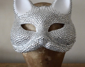Crystal Covered Cat Mask