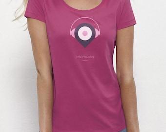 Headphoon Raspberry | T-shirt | Eco-friendly