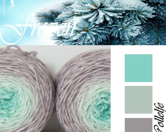 Frozen* Sock Gradient yarn Merino hand dyed 2 x 50g