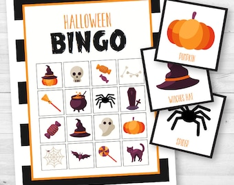Halloween Bingo Game - Instant Download