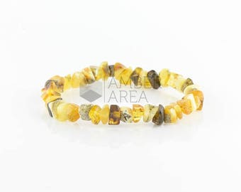 Amber Bracelet for Adults, Amber Jewelry // 7288