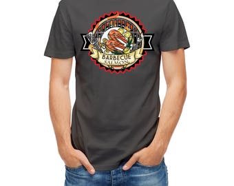 T-shirt Barbeque Bbq Salmon Sign 24214