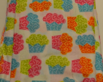Multicolor rainbow cupcakes cloth fabric