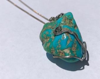 Turquoise nugget pendant