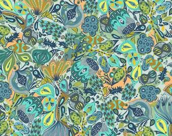 Shannon Newlin for Free Spirit - Garden Dreams - Secret Garden - Blue - Fabric by the Yard PWSN009-BLUE