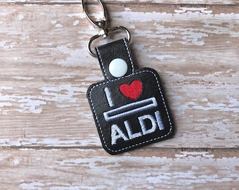 Aldi Quarter Holder, Aldi Keychain, Aldi Key Chain, Aldi Quarter Keeper, Snap Tab, Key Fob, Aldi Quarter Saver---70 Colors