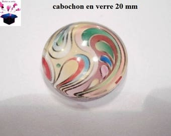 1 cabochon clear 20mm love theme paint