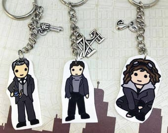 Gotham Character Key Chains or Studs