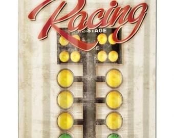 "Every Sunday Drag Racing   corrugated metal sign auto racing man cave garage decor approx. 16"" x 24"""