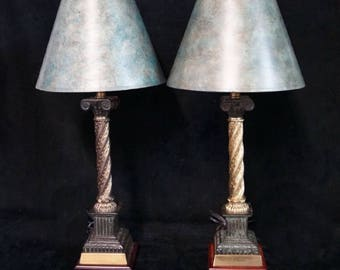 Neo-Classical Vintage Column Lamps