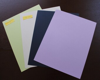 25 sheets of colored card stock