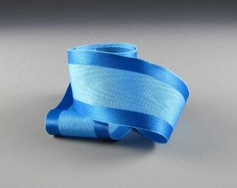 "1.5""  BLUE SATIN MOIRE Ribbon Wedding Decor"