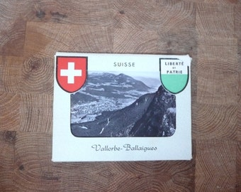 Instant Collection 10 vintage b/w photos Switzerland Liberte et Patrie Vallorbe-Ballaigues