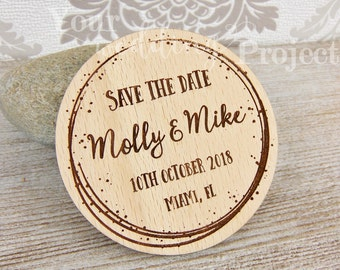 Save the Date Magnet, Sparkle Save the Date, Wood Save the Dates, Wedding Invitation, Wedding Favors, Rustic Save the Date, Wooden Magnet