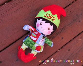 Custom Boy Elf Doll - Personalized Elf - Christmas Elf - Elf Plush - Christmas Gift - Christmas Decoration - Handmade -  Stocking Stuffer