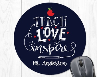 Teacher Gifts Personalized Classroom Decor Teacher Gift Mouse Pad Teacher Appreciation Gift Teacher Gift for Teacher Gift Ideas Custom Navy