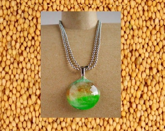 Cloudy Sky Mustard Seed necklace