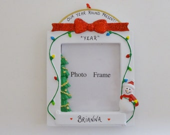 Personalized Photo Frame Christmas Ornament  - Personalized Picture Frame Ornament - Personalized Holiday Easel Back Frame