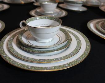 Rare Noritake Thurston Porcelain China Set for 7 persons plus extras - 42 pieces total