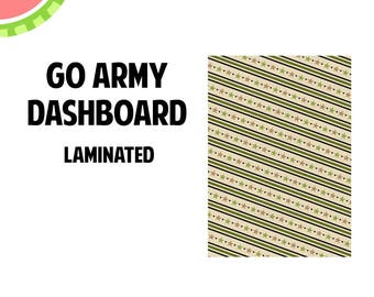 GO ARMY Laminated Dashboard for Traveler's Notebook | .3mil | DB065