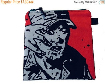 SALE 20% OFF TWD Zombie Multi Purpose Pouch, Small Craft Bag, Makeup Bag, Gadget Bag, Handmade in the Uk