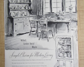 1946 SANGER BROS.  FURNITURE Texas since 1857 magazine ad. full page