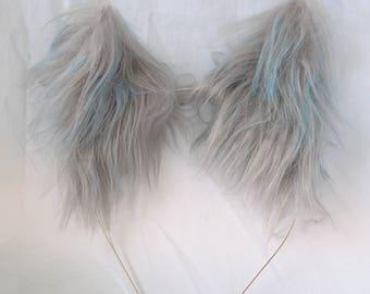 Grey Cat Ears