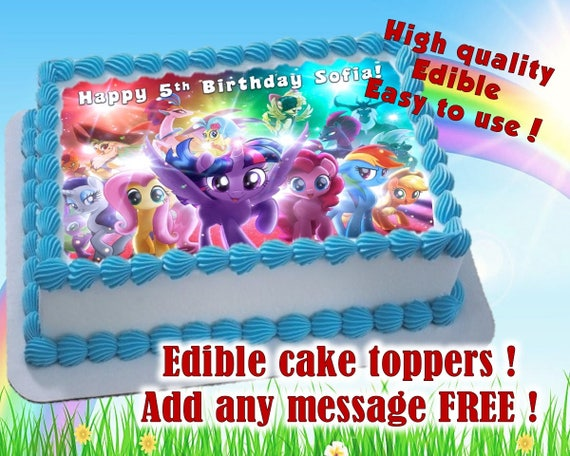 My Little Pony cake toppers edible print Sugar sheet decoration