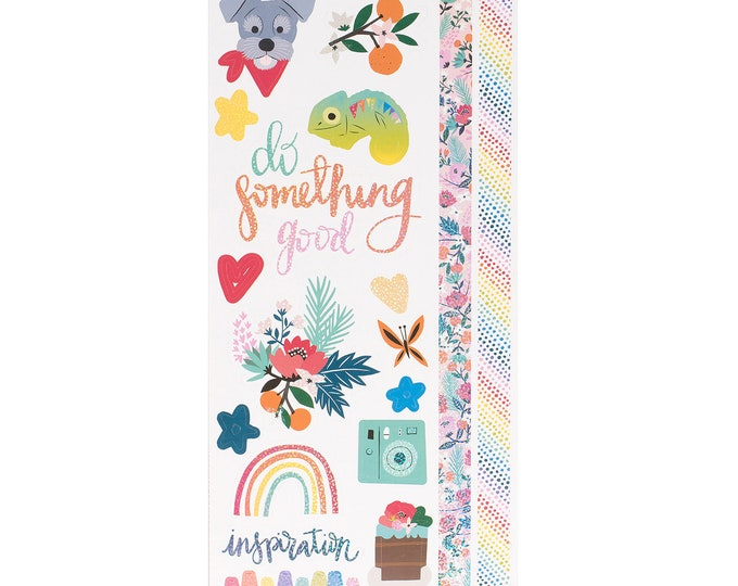 Box of crayons by shimelle 6x12 sticker sheet