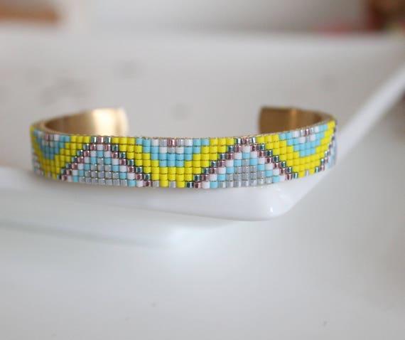 Cuff Bracelet, cuff, bracelet beads woven, bracelet Bangle, bracelet Miyuki beads, women bracelet, gift bracelet.