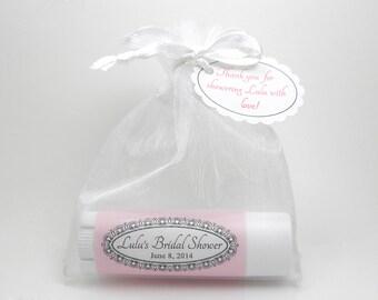 set of 10 lip balms: Bridal Shower Favor, Party Favor,all natural lip balm