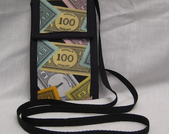Monopoly Money Wallet Bag